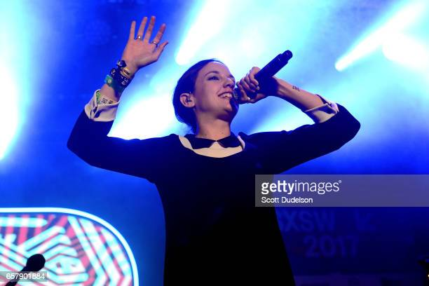 Singer Jain performs onstage during the Pandora SXSW showcase on March 15 2017 in Austin Texas