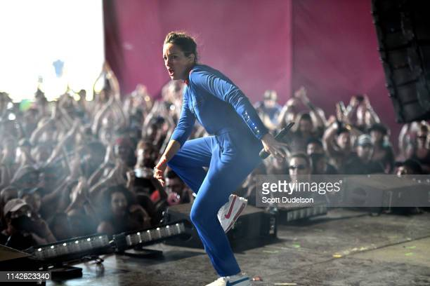 Singer JAIN performs onstage during Weekend 1 Day 2 of the 2019 Coachella Valley Music and Arts Festival on April 13 2019 in Indio California