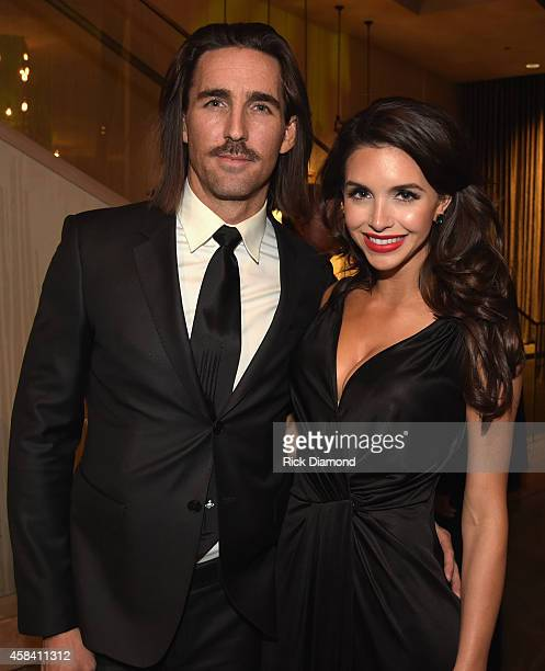 Singer Jake Owen and Lacey Buchanan attend the BMI 2014 Country Awards at BMI on November 4 2014 in Nashville Tennessee