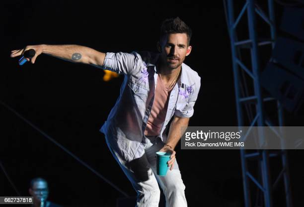 Singer Jake Owen performs onstage at the Bash at the Beach presented by WME at the Mandalay Bay Beach at Mandalay Bay Resort and Casino on March 31...