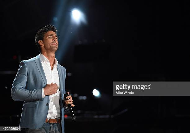 Singer Jake Owen performs onstage during ACM Presents Superstar Duets at Globe Life Park in Arlington on April 18 2015 in Arlington Texas