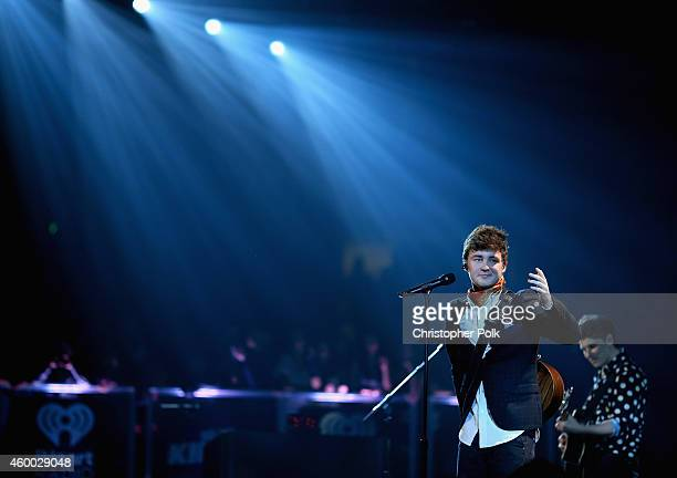 Singer Jake Roche of Rixton performs onstage at KIIS FM's Jingle Ball 2014 powered by LINE at Staples Center on December 5 2014 in Los Angeles...