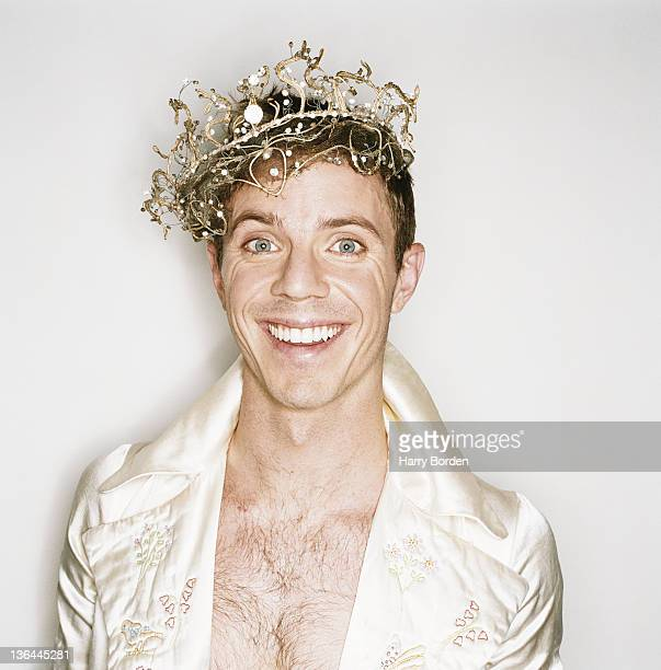 Singer Jake Shears of pop band Scissor Sisters is photographed for the Observer on November 16 2004 in London England