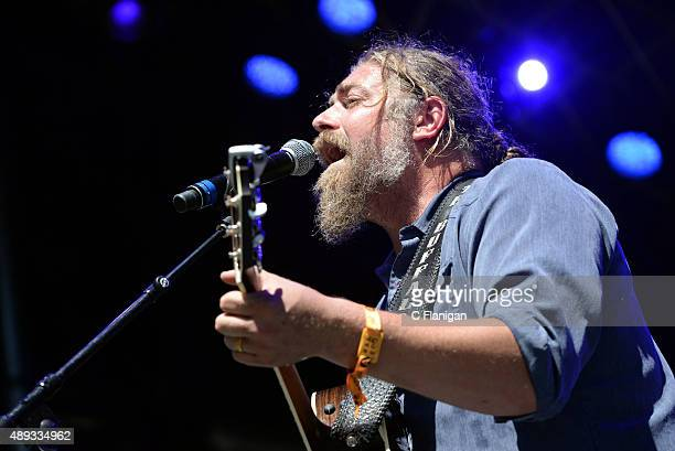 Singer Jake Smith of The White Buffalo performs during 2015 KAABOO Del Mar at the Del Mar Fairgrounds on September 20, 2015 in Del Mar, California.