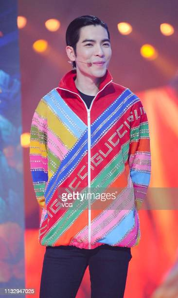 Singer Jam Hsiao attends television show 'Chuang' press conference on February 28 2019 in Shanghai China
