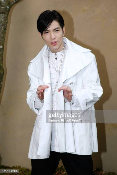 Singer Jam Hsiao attends the Chanel show as part of the Paris Fashion Week Womenswear Fall/Winter 2018/2019 on March 6 2018 in Paris France
