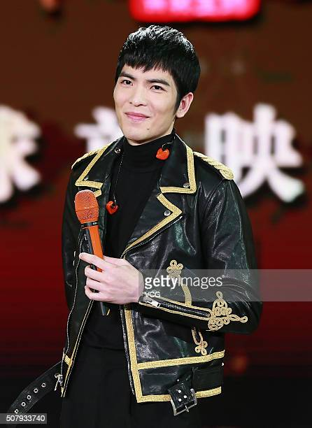 Singer Jam Hsiao attends the premiere of director Yuen Wooping's film Crouching Tiger Hidden Dragon The Green Destiny on February 1 2016 in Beijing...