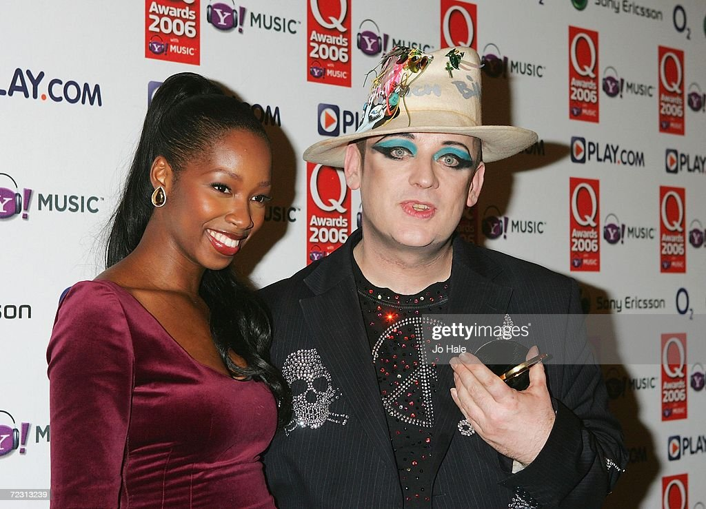 Singer Jamelia and DJ Boy George pose in the Awards Room at the Q Awards 2006 held at the Grosvenor House Hotel on October 30, 2006 in London, England.