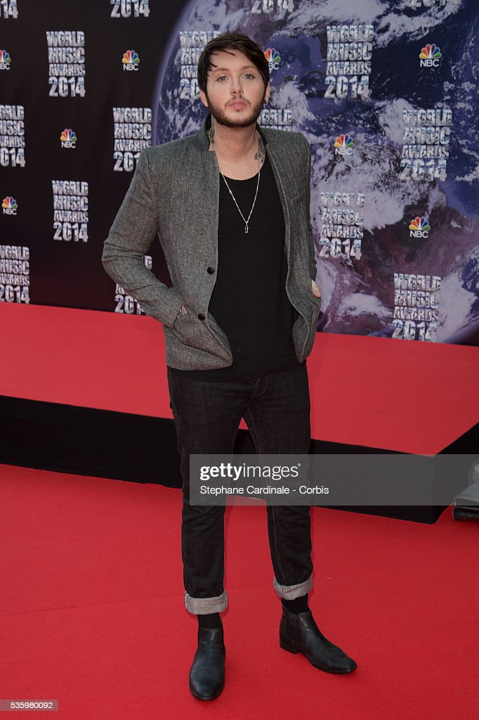 Singer James Arthur arrives at the World Music Awards at Sporting Monte-Carlo on May 27, 2014 in Monte-Carlo, Monaco.