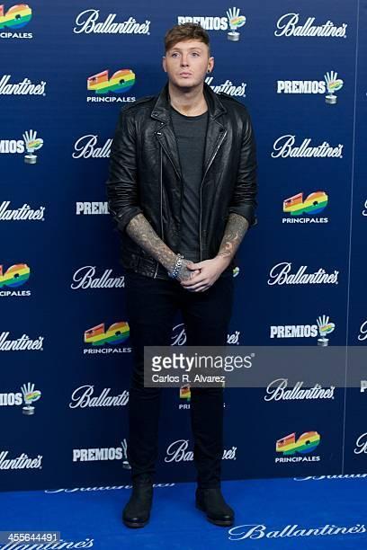 "Singer James Arthur attends the ""40 Principales Awards"" 2013 photocall at Palacio de los Deportes on December 12, 2013 in Madrid, Spain."