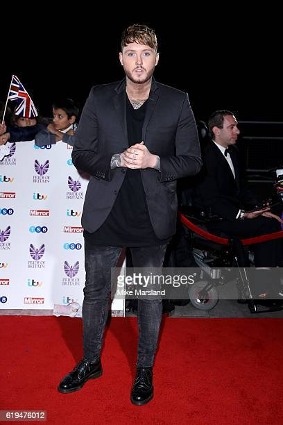 Singer James Arthur attends the Pride Of Britain Awards at The Grosvenor House Hotel on October 31, 2016 in London, England.
