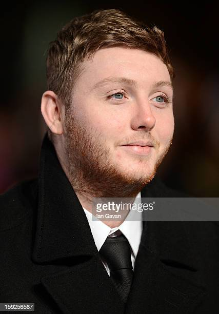 """Singer James Arthur attends the UK Premiere of """"Django Unchained"""" at the Empire Leicester Square on January 10, 2013 in London, England."""