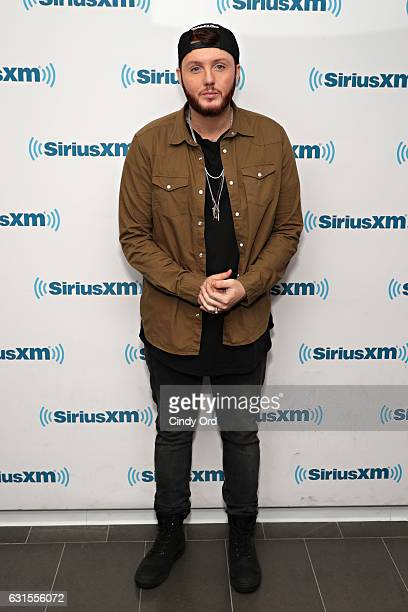 Singer James Arthur visits the SiriusXM Studios on January 12, 2017 in New York City.