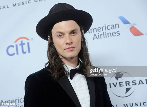 Singer James Bay arrives at Universal Music Group's 2016 GRAMMY After Party at The Theatre At The Ace Hotel on February 15 2016 in Los Angeles...
