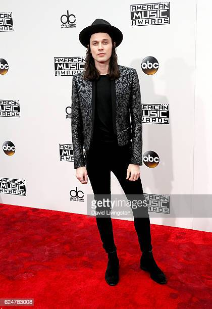 Singer James Bay attends the 2016 American Music Awards at Microsoft Theater on November 20 2016 in Los Angeles California