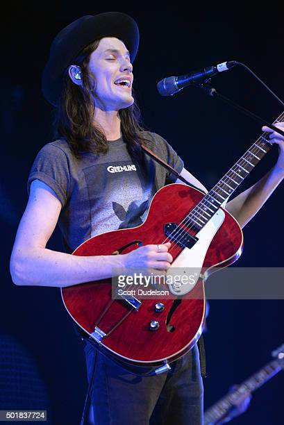 Singer James Bay performs at The Forum on December 13 2015 in Inglewood California