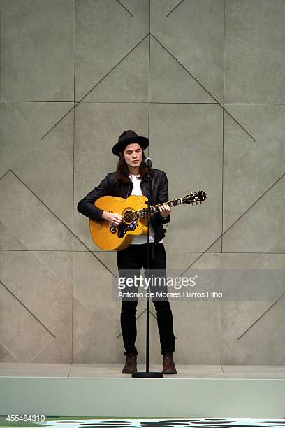 Singer James Bay performs duirng the Burberry Prorsum show during London Fashion Week Spring Summer 2015 at on September 15, 2014 in London, England.