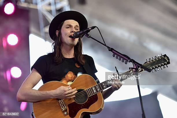 Singer James Bay performs onstage during day 2 of the 2016 Coachella Valley Music Arts Festival Weekend 1 at the Empire Polo Club on April 16 2016 in...