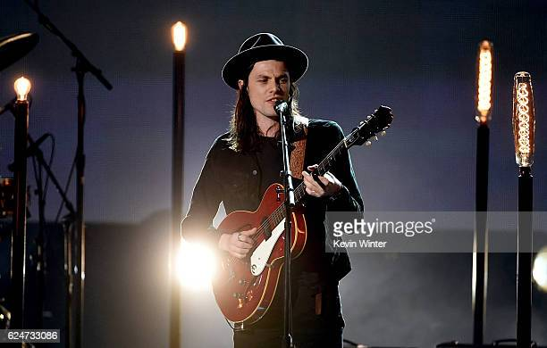 Singer James Bay performs onstage during the 2016 American Music Awards at Microsoft Theater on November 20, 2016 in Los Angeles, California.