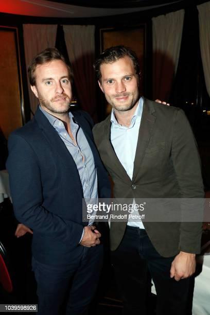 Singer James Blake and Actor Jamie Dornan attends 'Ryder Cup Dinner' at Fouquet's Barriere on September 24 2018 in Paris France