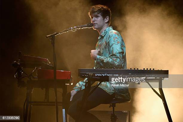 Singer James Blake performs onstage at Radio City Music Hall on October 3 2016 in New York City