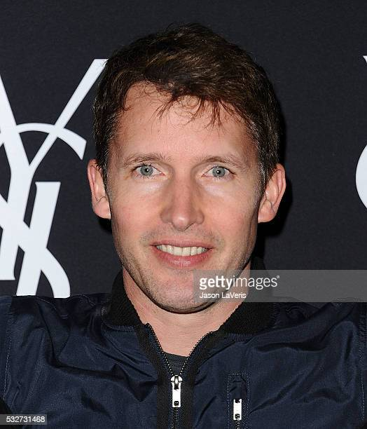 Singer James Blunt attends the Yves Saint Laurent Beauty event at Gibson Brands Sunset on May 18 2016 in Los Angeles California