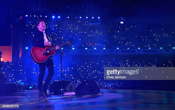 Singer James Blunt performs during the Opening Ceremony of the Invictus Games Orlando 2016 at ESPN Wide World of Sports on May 8 2016 in Orlando...