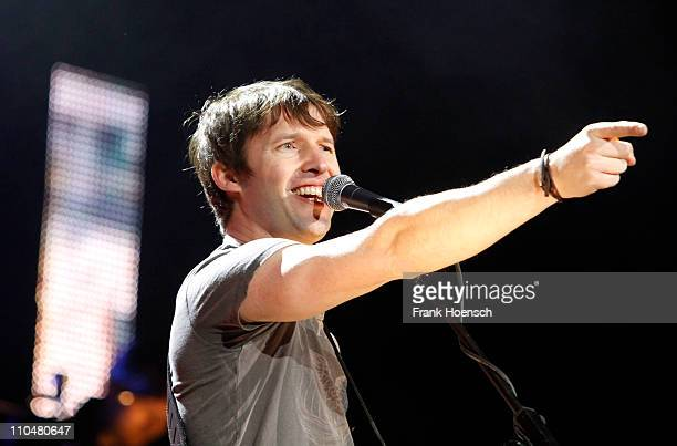 Singer James Blunt performs live during a concert at the O2 World on March 19, 2011 in Berlin, Germany.
