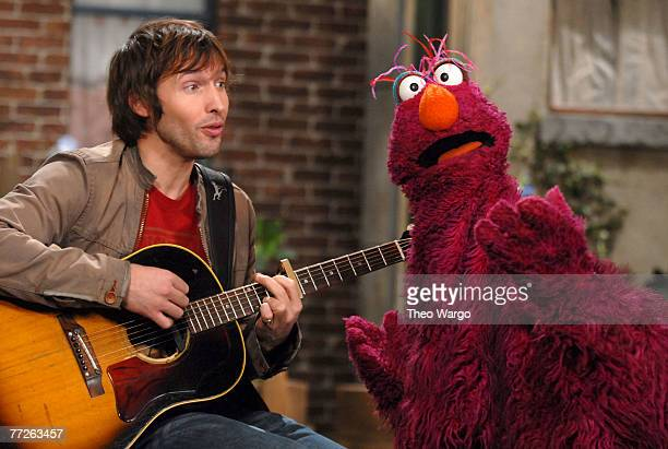"""Singer James Blunt stopped by """"Sesame Street"""" to sing about his triangle. The song """"My Triangle"""" was sung to the tune of his hit """"You're Beautiful""""...."""