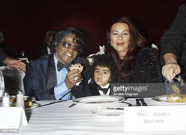 Singer James Brown son James Brown II and wife Tommy Ray Brown attend the Keepers of the Dream gala dinner at the Sheraton Hotel April 6 2006 in New...