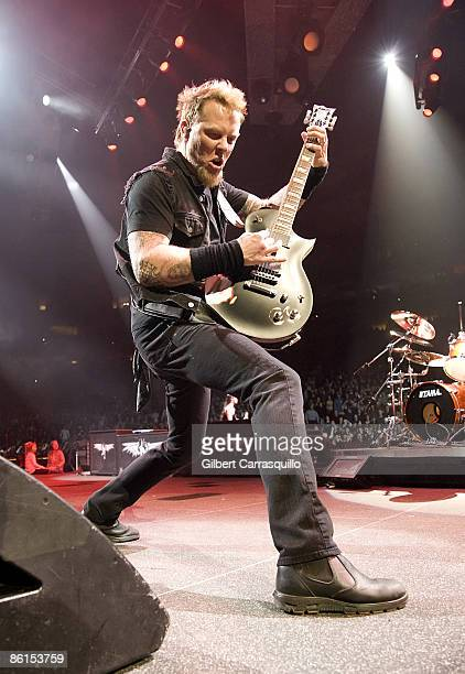 Singer James Hetfield of Metallica performs at the Wachovia Center on January 17, 2009 in Philadelphia.