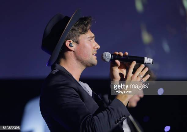 Singer James Maslow performs onstage at the 2017 Make a Wish Gala on November 9 2017 in Los Angeles California