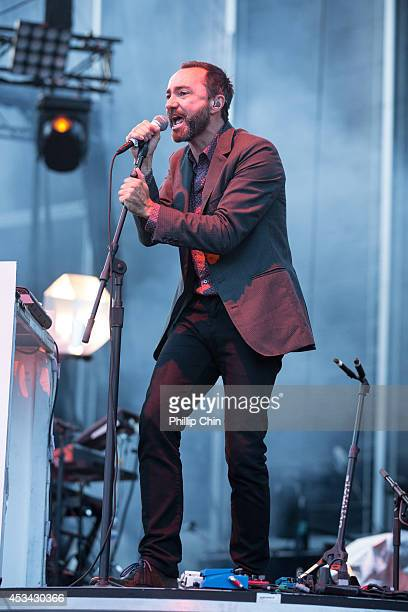 Singer James Mercer of Broken Bells performs at the Squamish Valley Music Festival on August 9 2014 in Squamish Canada