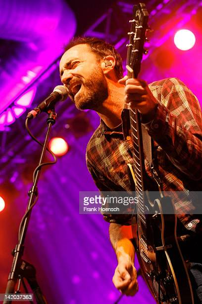 Singer James Mercer of the band The Shins performs live during a concert at the Huxleys on March 28 2012 in Berlin Germany