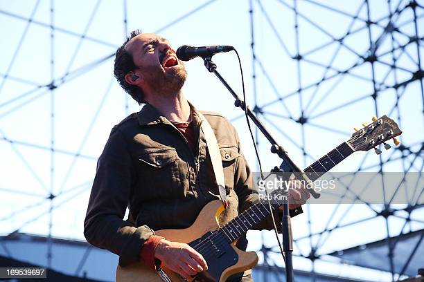 Singer James Mercer of The Shins performs at Williamsburg Park on May 26 2013 in Brooklyn New York