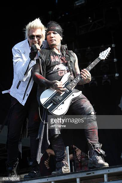 Singer James Michael and guitarist DJ Ashba of Sixx AM perform during 2016 Carolina Rebellion at Charlotte Motor Speedway on May 6 2016 in Concord...