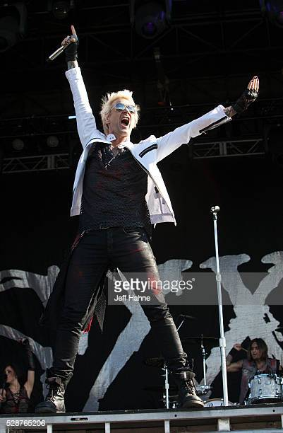 Singer James Michael of Sixx AM performs during 2016 Carolina Rebellion at Charlotte Motor Speedway on May 6 2016 in Concord North Carolina
