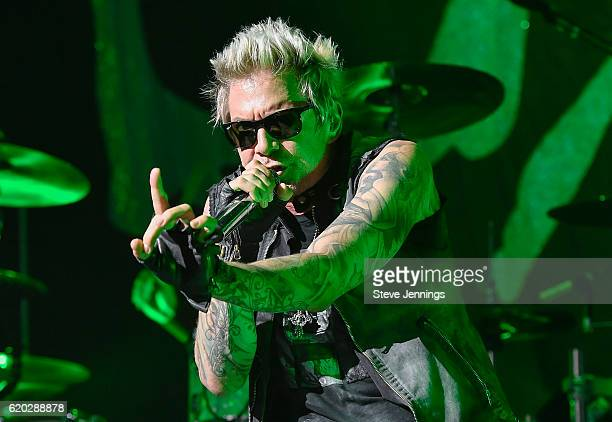 Singer James Michael of Sixx AM performs on Halloween night at SAP Center on October 31 2016 in San Jose California