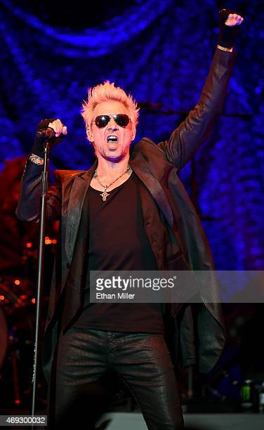 Singer James Michael of SixxAM performs at The Joint inside the Hard Rock Hotel Casino on April 10 2015 in Las Vegas Nevada
