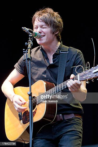 Singer James O'Neill of the band Martin and James performs live in support of Glen Hansard during a concert at the Zitadelle Spandau on August 12...