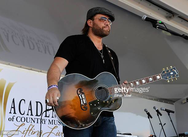 Singer James Otto performs onstage during the Academy Of Country Music's USO concert at Nellis Air Force Base on April 17 2010 in Las Vegas Nevada
