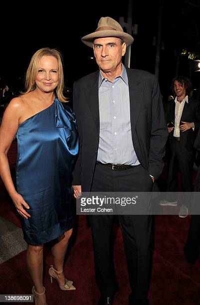 Singer James Taylor and Kim Smedvig arrives at The 2012 MusiCares Person of The Year Gala Honoring Paul McCartney at Los Angeles Convention Center on...