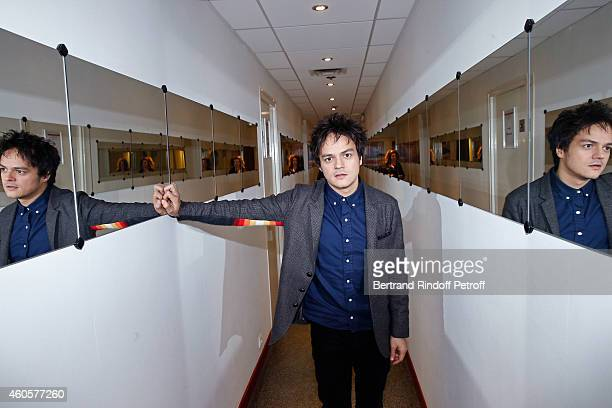 Singer Jamie Cullum attends the 'Vivement Dimanche' French TV Show at Pavillon Gabriel on December 16 2014 in Paris France