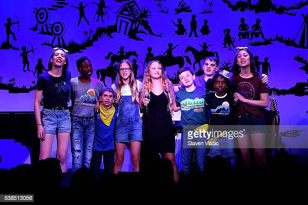 Singer Jamie Lou Stenzel and SeriousFun Campers perform onstage during SeriousFun Children's Network 2016 NYC Gala Show on June 6 2016 in New York...