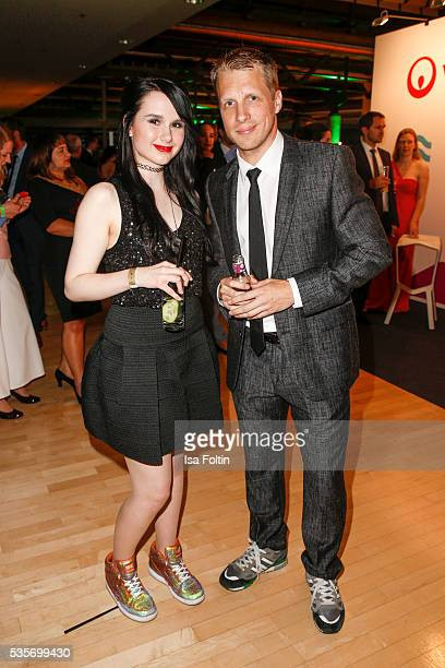 Singer JamieLee Kriewitz and Moderator Oliver Pocher during the Green Tec Award After Show Party at ICM Munich on May 29 2016 in Munich Germany