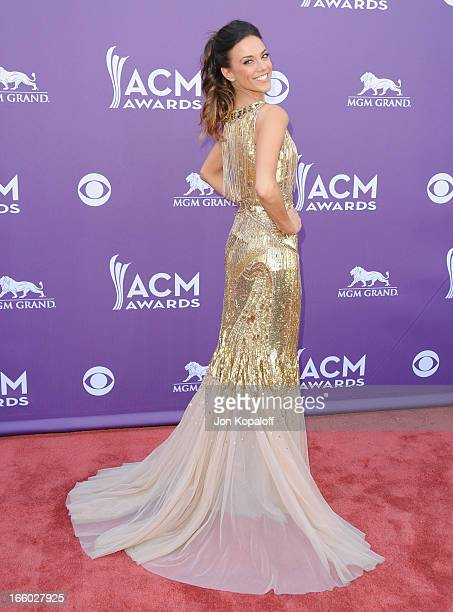 Singer Jana Kramer arrives at the 48th Annual Academy Of Country Music Awards at MGM Grand Garden Arena on April 7 2013 in Las Vegas Nevada