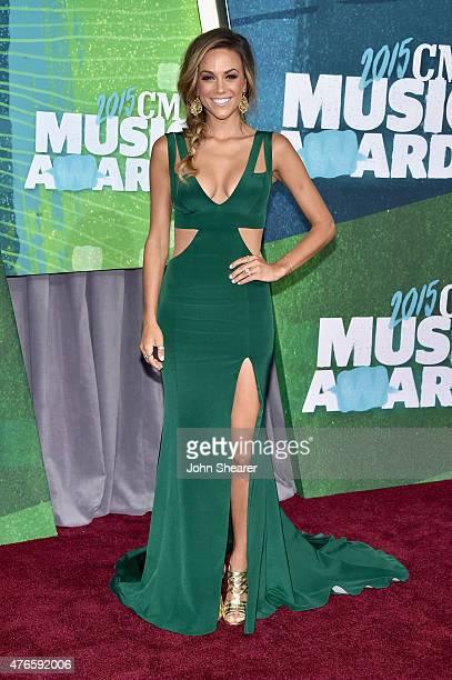 Singer Jana Kramer attends the 2015 CMT Music awards at the Bridgestone Arena on June 10 2015 in Nashville Tennessee