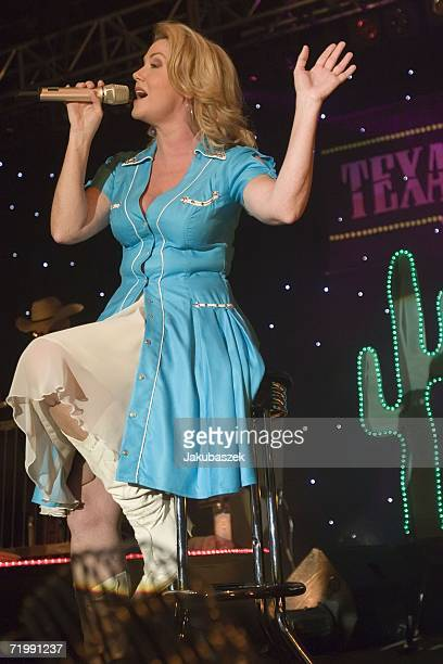 """Singer Jane Comerford of the German country band """"Texas Lightning"""" performs live during a concert at the Columbiahalle September 25, 2006 in Berlin,..."""