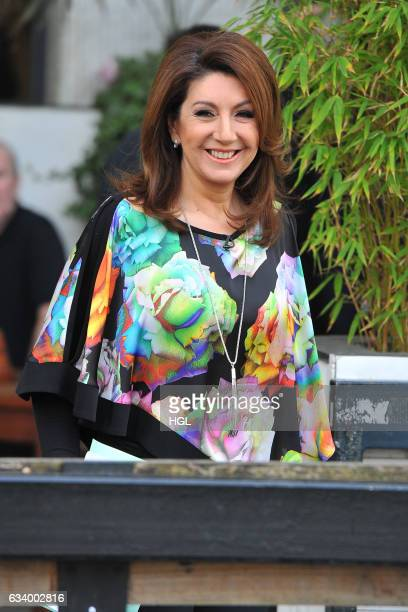 Singer Jane McDonald seen filming for the ITV Loose Women show on February 6 2017 in London England