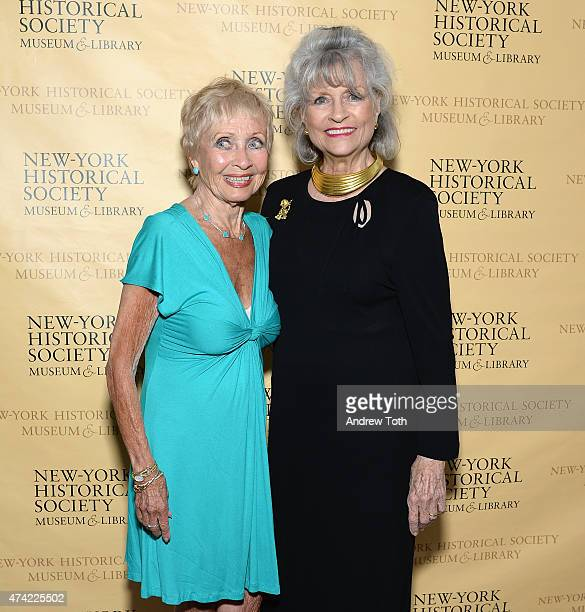 Singer Jane Powell and Louise Kerz Hirschfeld attend The Hirschfeld Century The Art of Al Hirschfeld Reception at NewYork Historical Society on May...